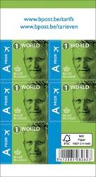 BPost postzegel internationaal, Koning Filip, blister van 50 stuks, non-prior