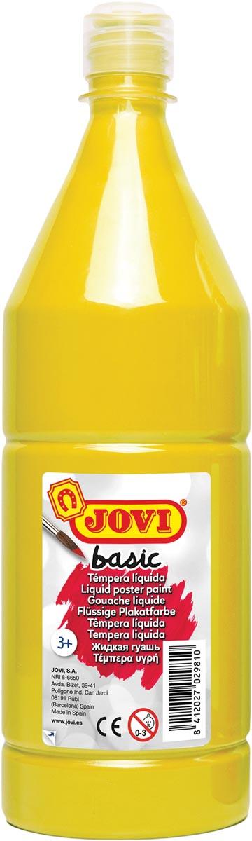 Jovi plakkaatverf, fles van 1000 ml, geel