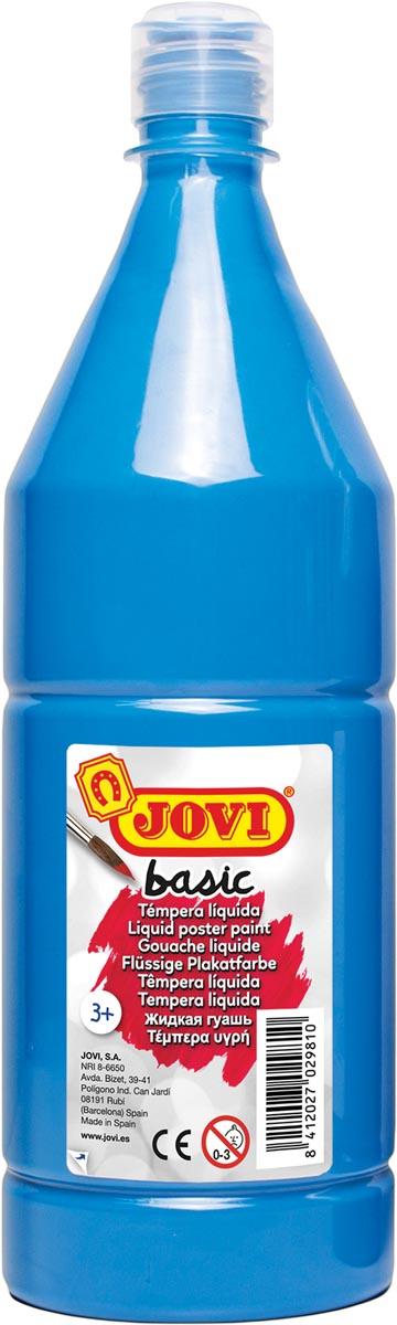 Jovi plakkaatverf, fles van 1000 ml, cyaanblauw