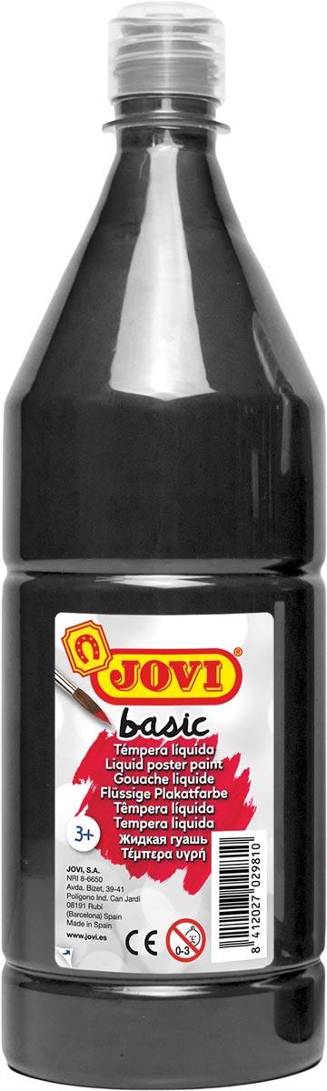 Jovi plakkaatverf, fles van 1000 ml, zwart