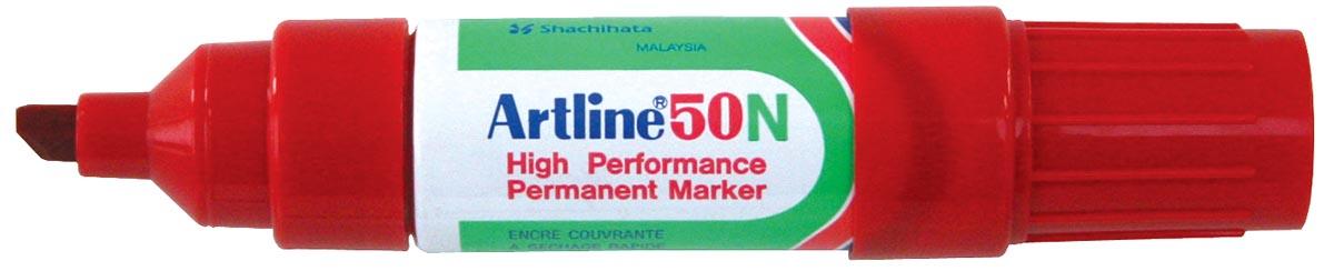 Permanent marker Artline 50 rood