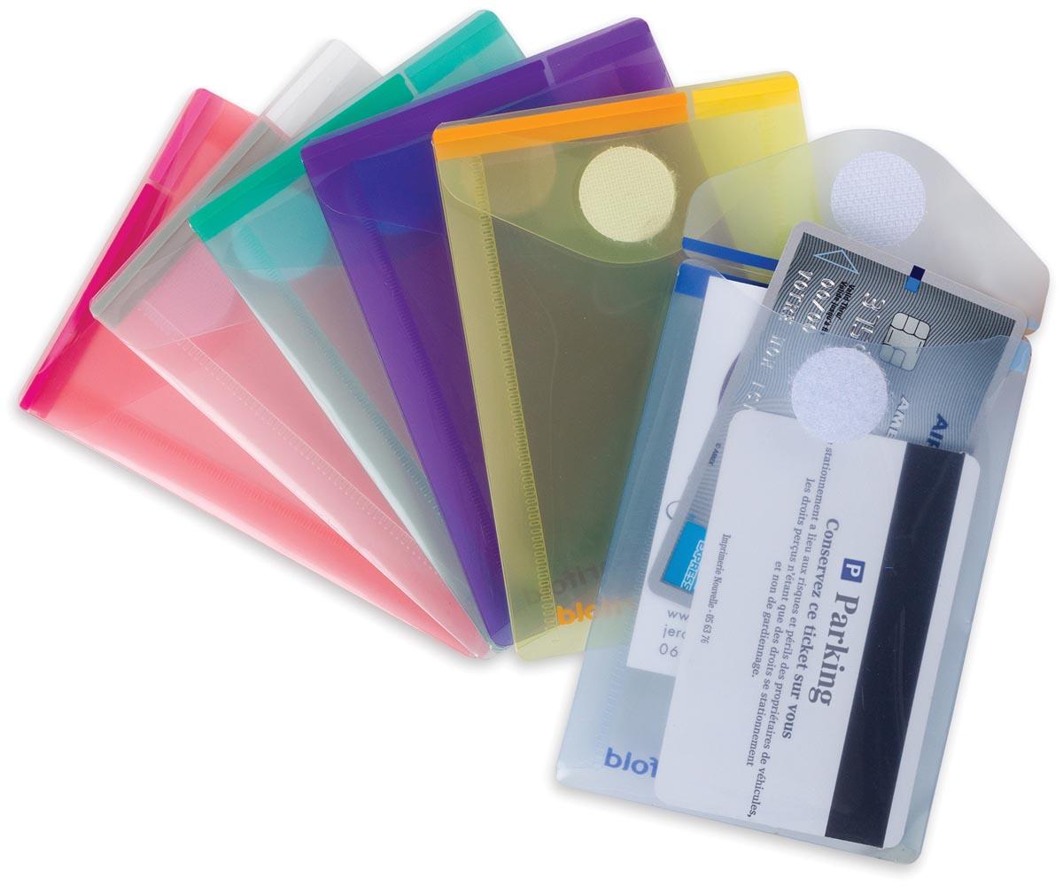 Tarifold documentenmap Collection Color voor ft A7 portret (80 x 115 mm), pak van 6 stuks, geassorte