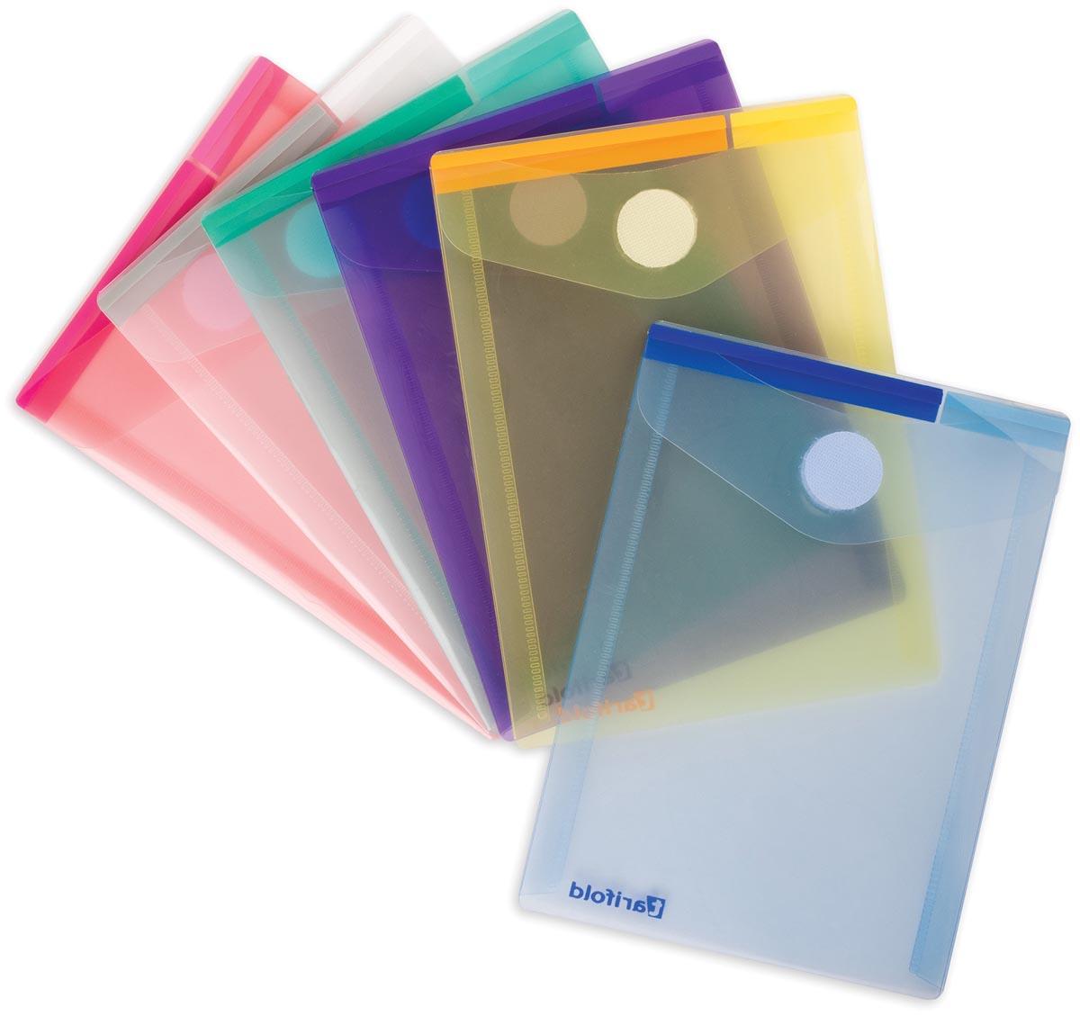 Tarifold documentenmap Collection Color voor ft A6 staand (11,4 x 15,8 cm), pak van 6 stuks, geassor