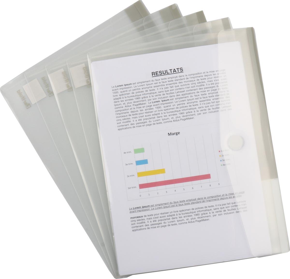 Tarifold collection documentenmap voor ft A4 (316 x 240 mm), pak van 5 stuks
