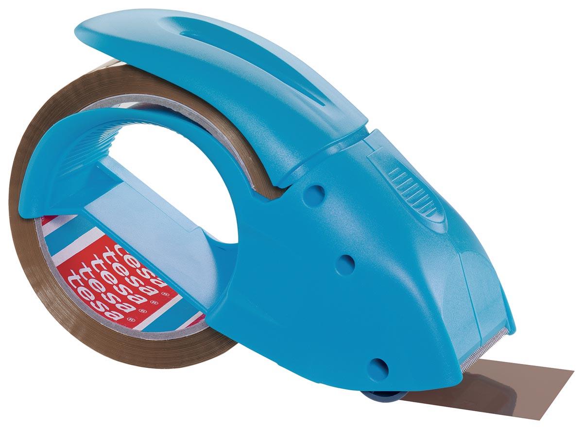 Tesapack handafroller Pack 'n Go, blauw