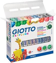 Giotto Patplume boetseerpasta, doos met 12 pakken van 350 g in geassorteerde kleuren