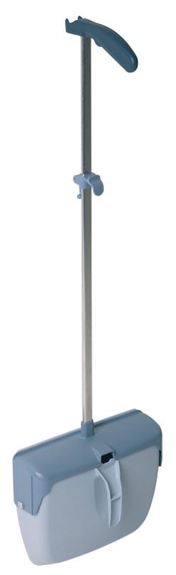 Vileda gesloten stofblik Dustpan, met aluminium steel