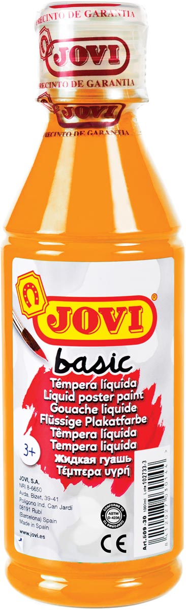 Jovi plakkaatverf, fles van 250 ml, oranje