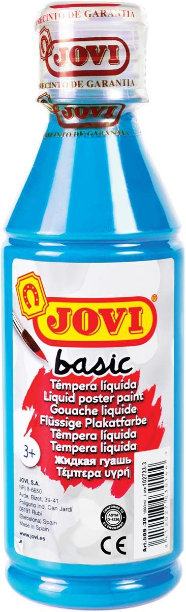Jovi plakkaatverf, fles van 250 ml, cyaanblauw