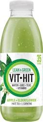 Vit Hit vitaminedrank Lean & Green, flesje van 50 cl, pak van 12 stuks