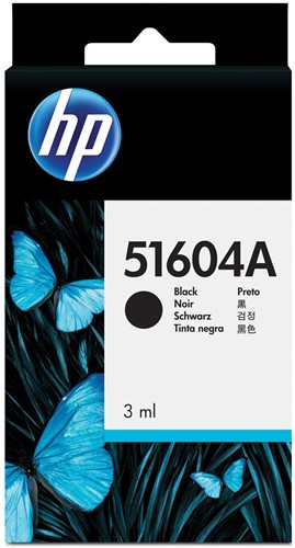 HP inktcartridge en printkop 04A, voor calculators, OEM 51604A, zwart