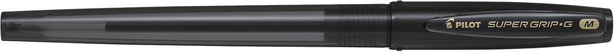 Pilot balpen Super Grip G medium met dop, zwart, value pack met 30 + 10 stuks