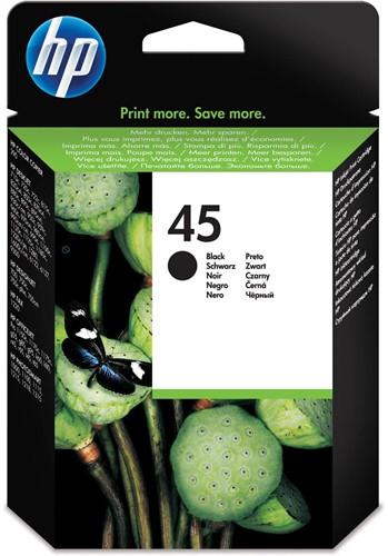 HP inktcartridge 45, 930 pagina's, OEM 51645AE, zwart
