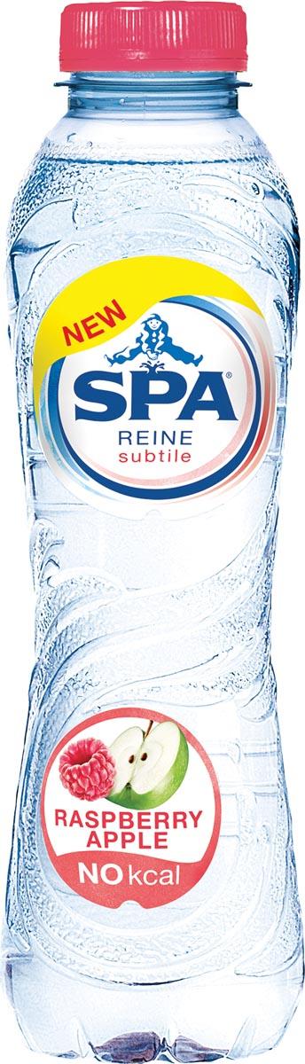 Spa Reine Subtile water framboos-apple, fles van 50 cl, pak van 24 stuks