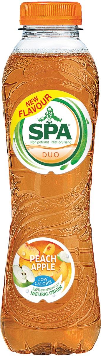 Spa Duo limonade perzik-appel, fles van 50 cl, pak van 24 stuks