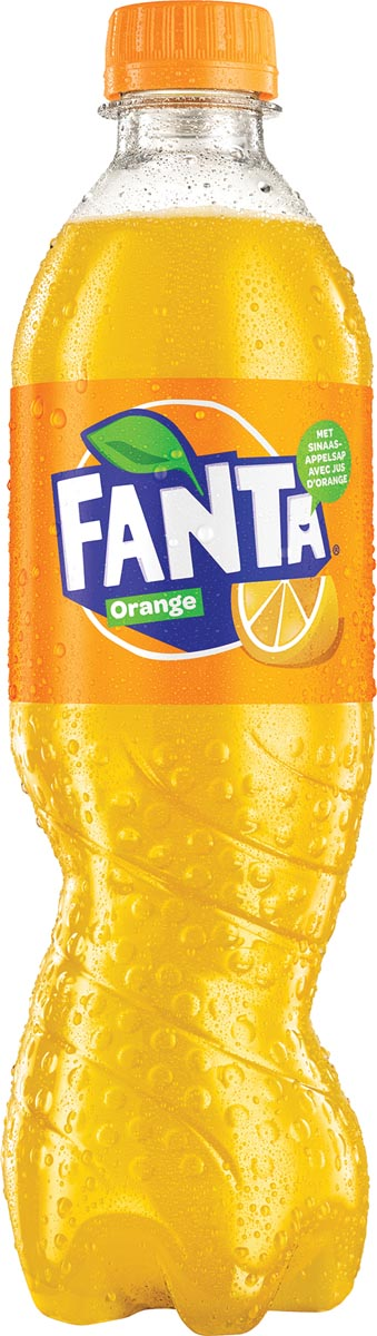 Fanta Orange frisdrank, fles van 50 cl, pak van 24 stuks