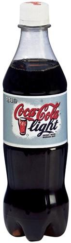 Coca-Cola Light frisdrank, fles van 50 cl, pak van 24 stuks