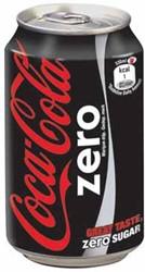 Coca-Cola Zero frisdrank, blik van 33 cl, pak van 24 stuks