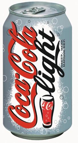Coca-Cola Light frisdrank, blik van 33 cl, pak van 30 stuks