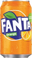 Fanta Orange frisdrank, blik van 33 cl, pak van 24 stuks