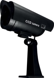 Pavo imitatiecamera met LED-lampje, kleur zwart