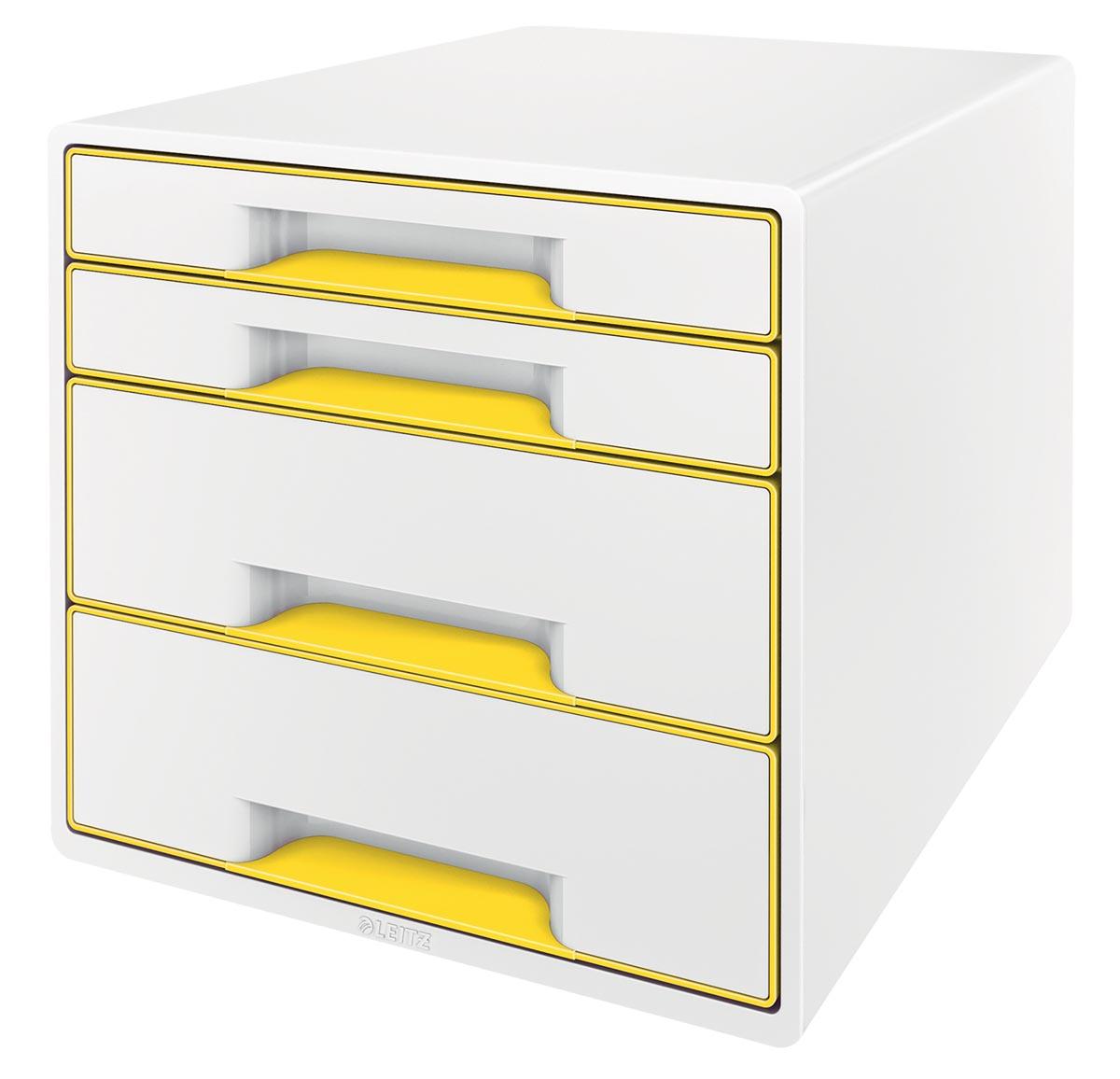 Leitz ladenblok WOW, 4 laden, wit/geel