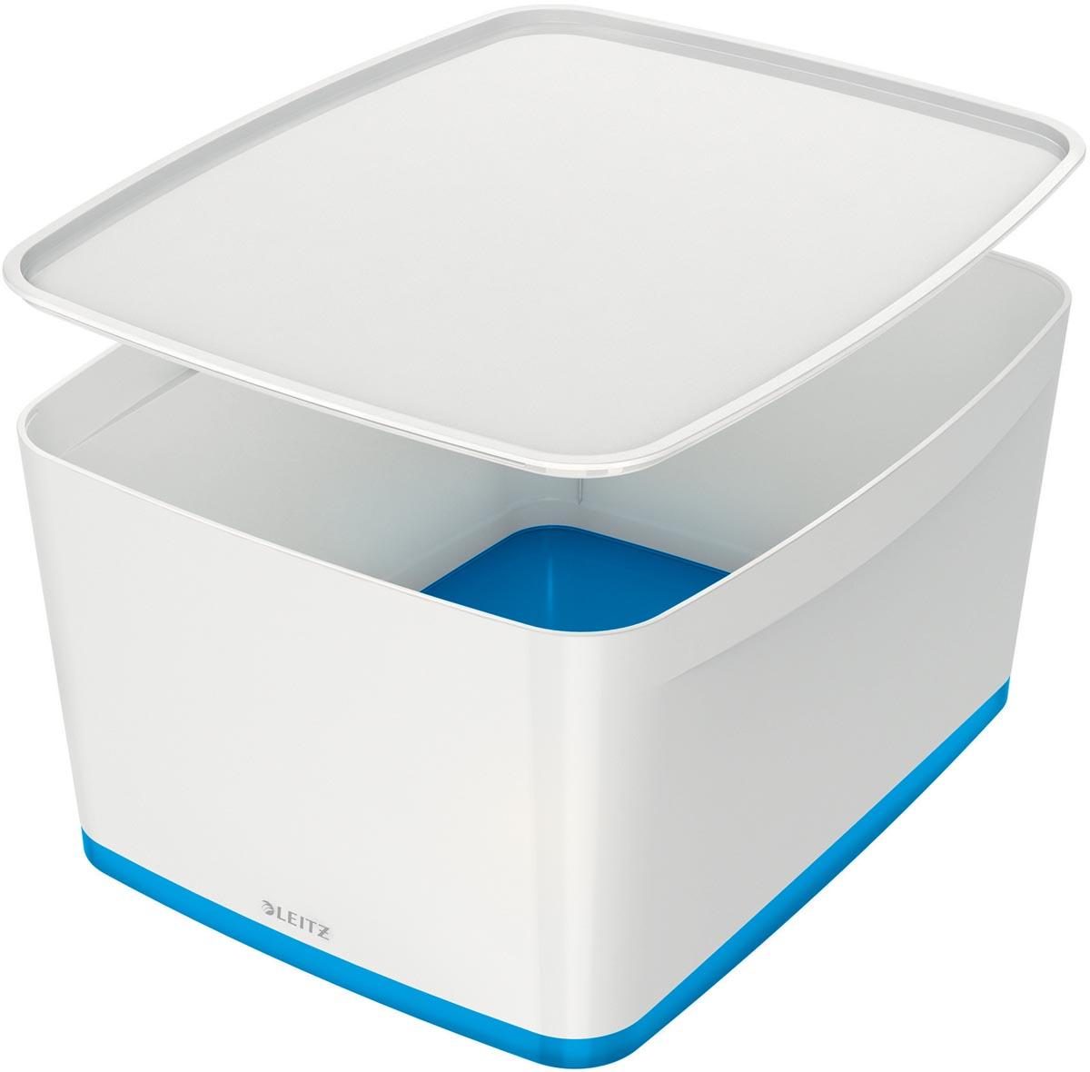 Leitz MyBox opbergdoos met deksel, groot formaat, blauw