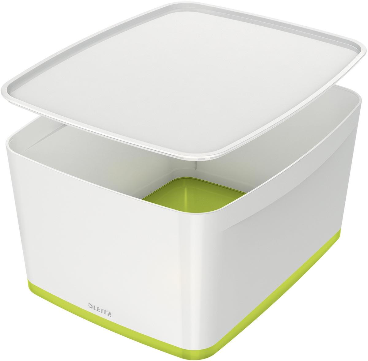 Leitz MyBox opbergdoos met deksel, groot format, groen
