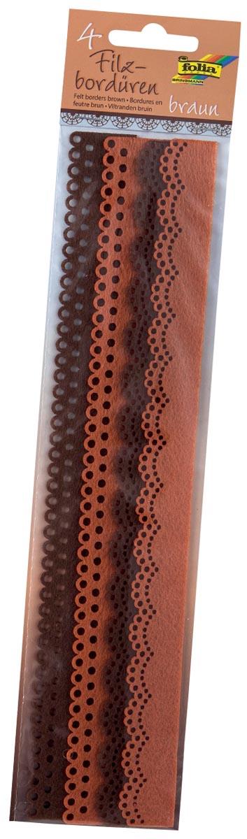 Folia viltboord, 30 cm, blister van 4 stuks, bruin