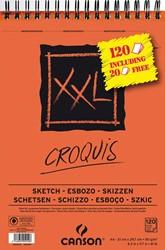 Canson schetsblok XXL, 90 g/m², ft A4, 100 + 20 vel gratis