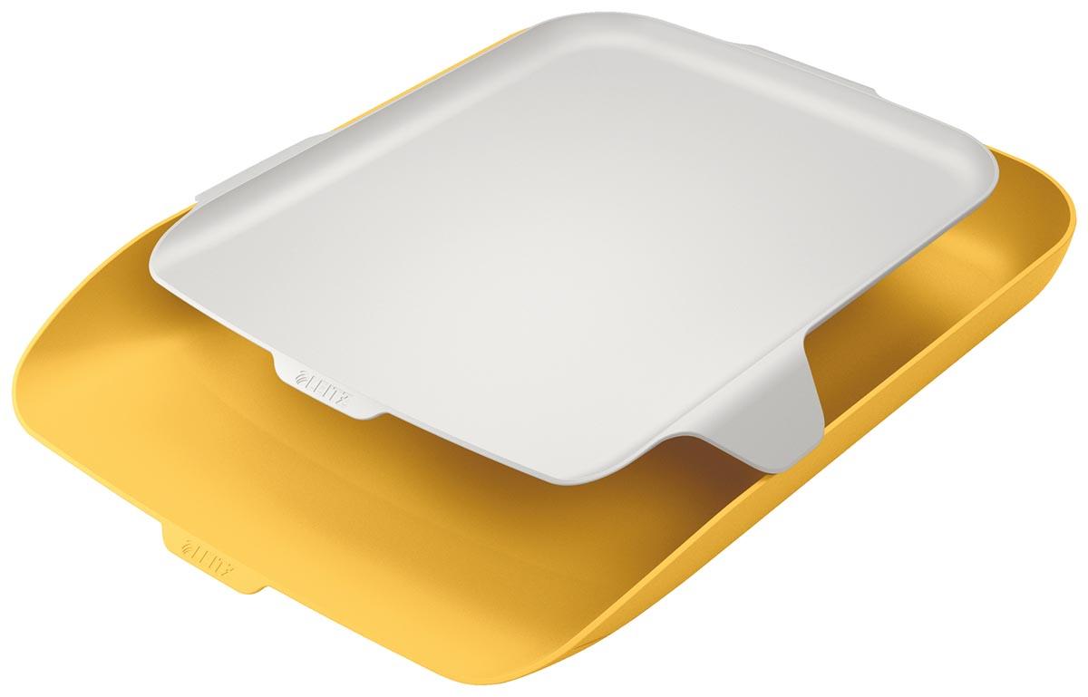Leitz Cosy brievenbakje met desk organiser, geel