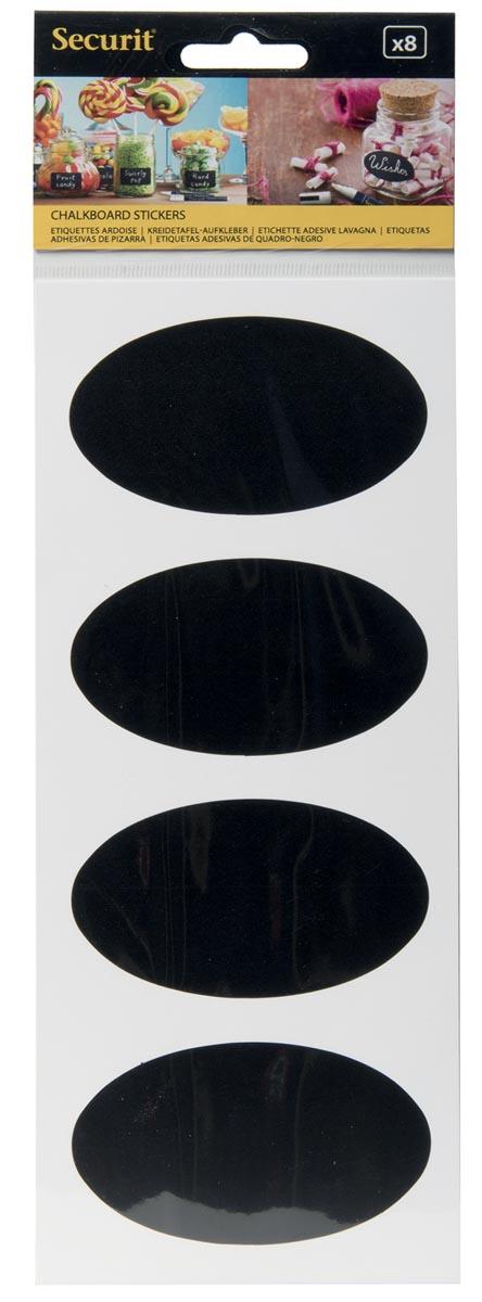 Krijtbordstickers ovaal set van 8