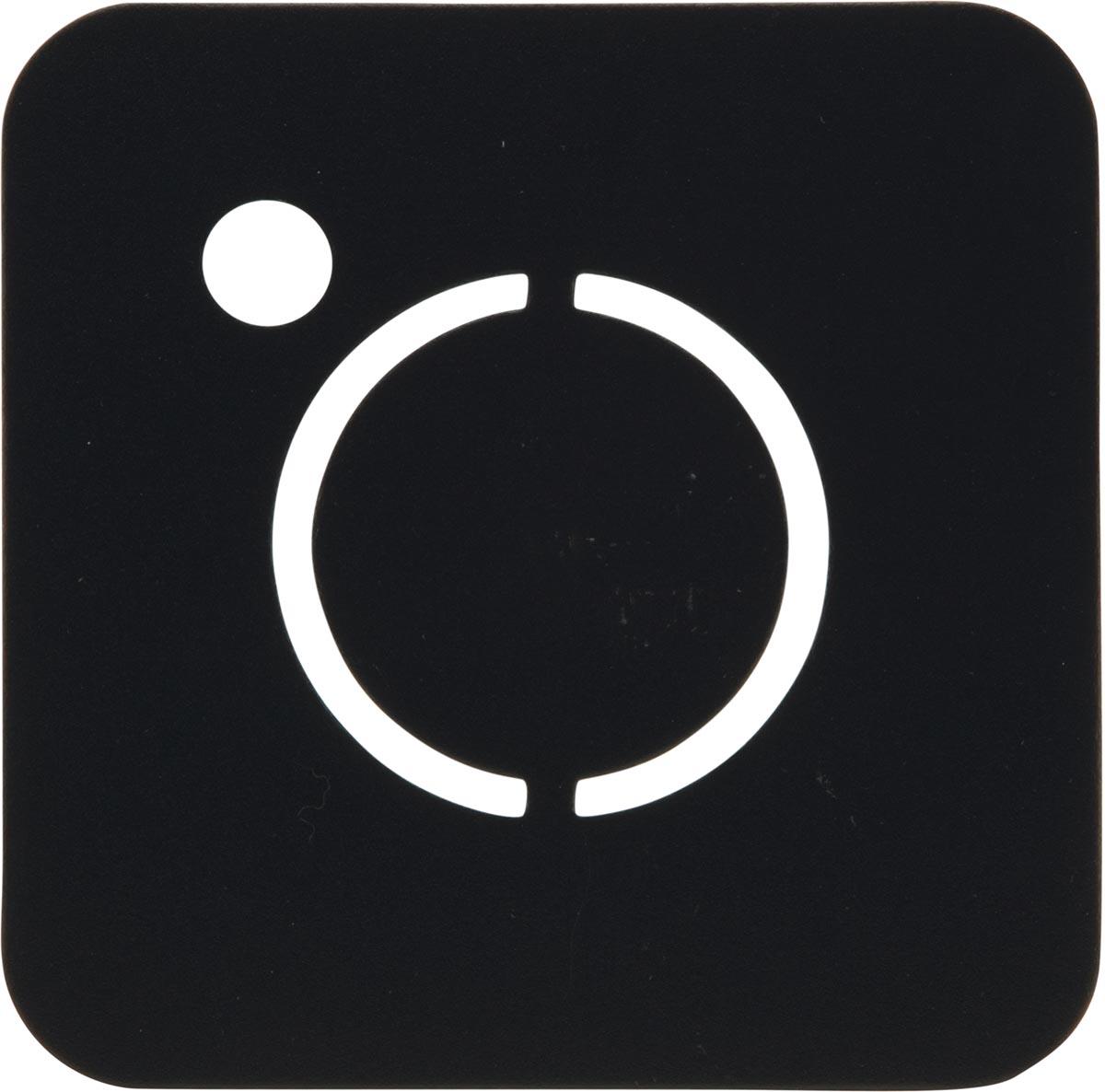 Securit krijtbord Silhouette Instagram, ft 30 x 50 cm