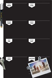 Securit Silhouette krijtbord voor aan de muur, weekplanner