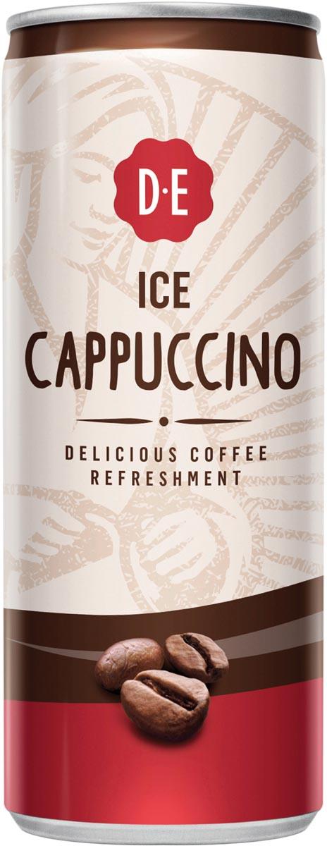 Douwe Egberts ice coffee, Cappuccino, blik van 25 cl, pak van 12 stuks
