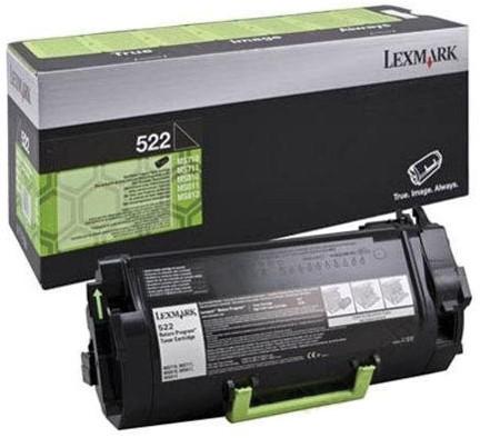 Lexmark Toner Kit zwart return program 522 - 6000 pagina's - 52D2000