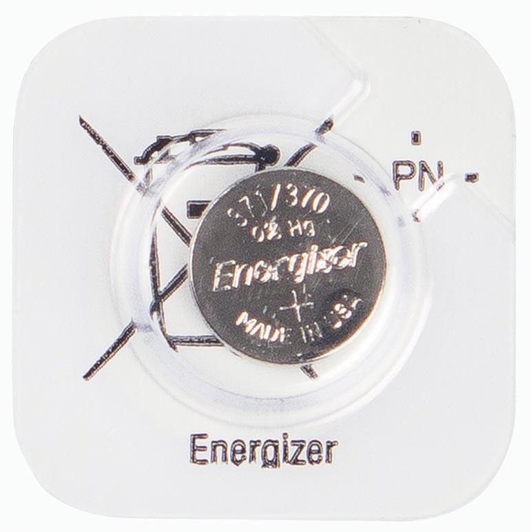 Energizer batterij knoopcel 371/370, op mini-blister