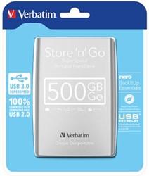 Verbatim harde schijf Store 'n' Go, 500 GB, zilver