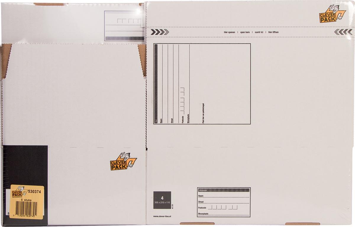 Cleverpack postpakketdoos, ft 305 x 215 x 110 mm, pak van 5-2