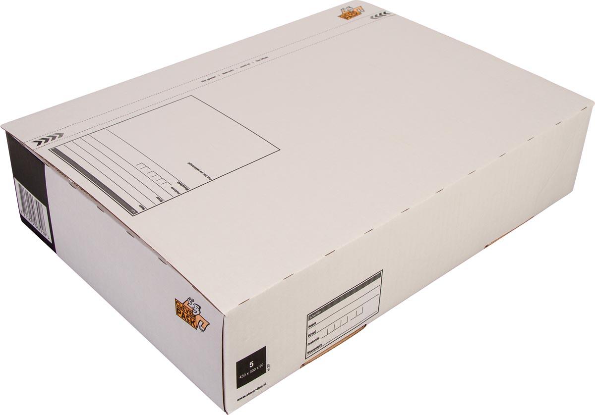 Cleverpack postpakketdoos, ft 430 x 300 x 90 mm, pak van 5