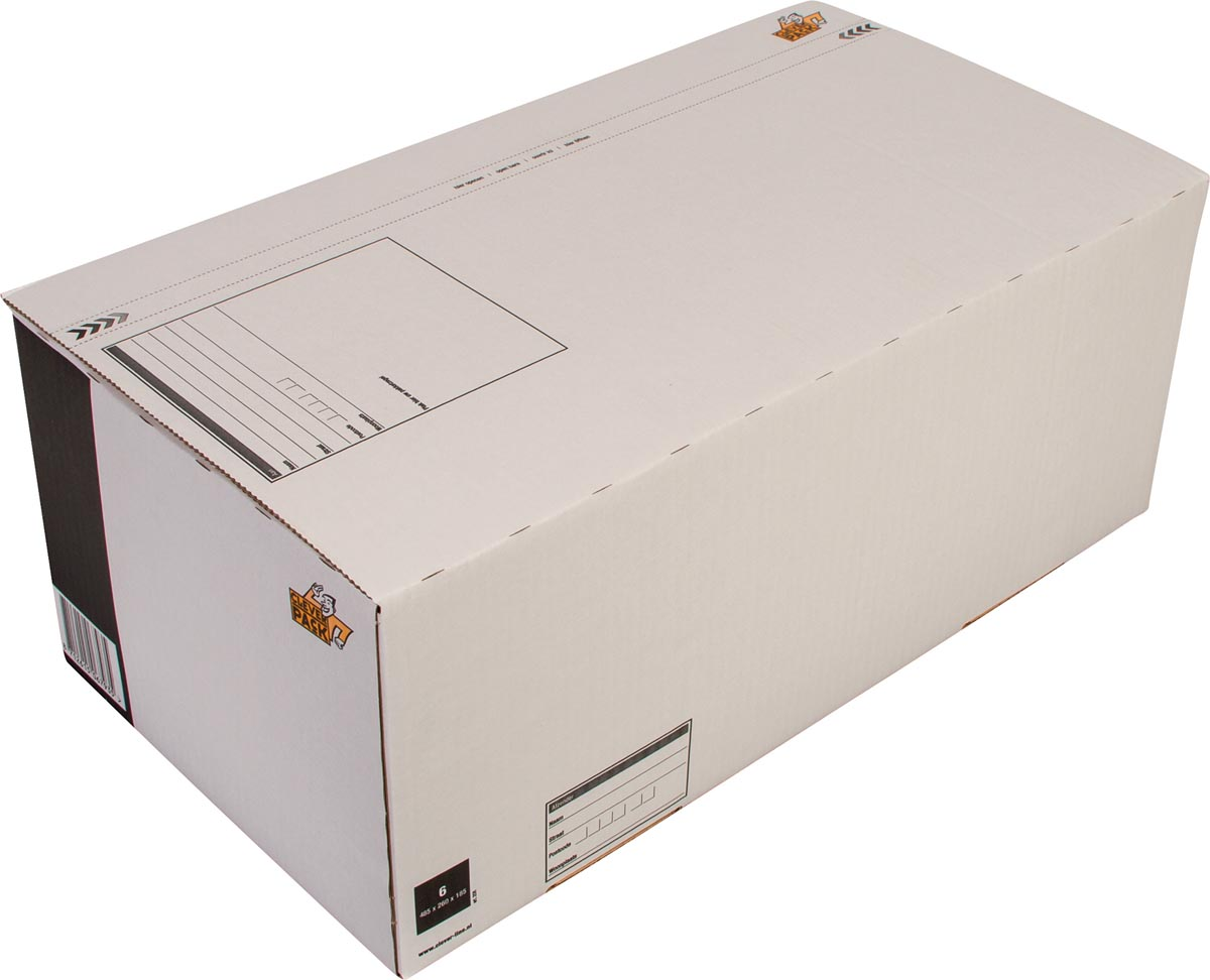 Cleverpack postpakketdoos, ft 486 x 250 x 185 mm, pak van 5