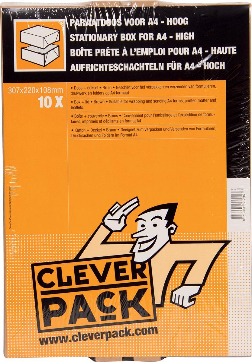 Cleverpack opbergdoos A4, ft 307 x 220 x 108 mm, pak van 10 stuks-3