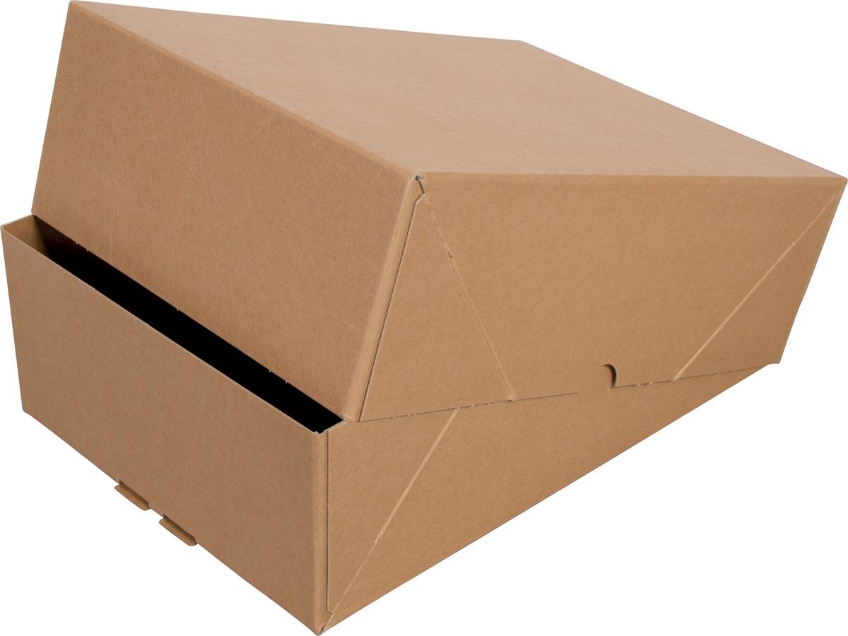 Cleverpack opbergdoos A4, ft 307 x 220 x 108 mm, pak van 10 stuks
