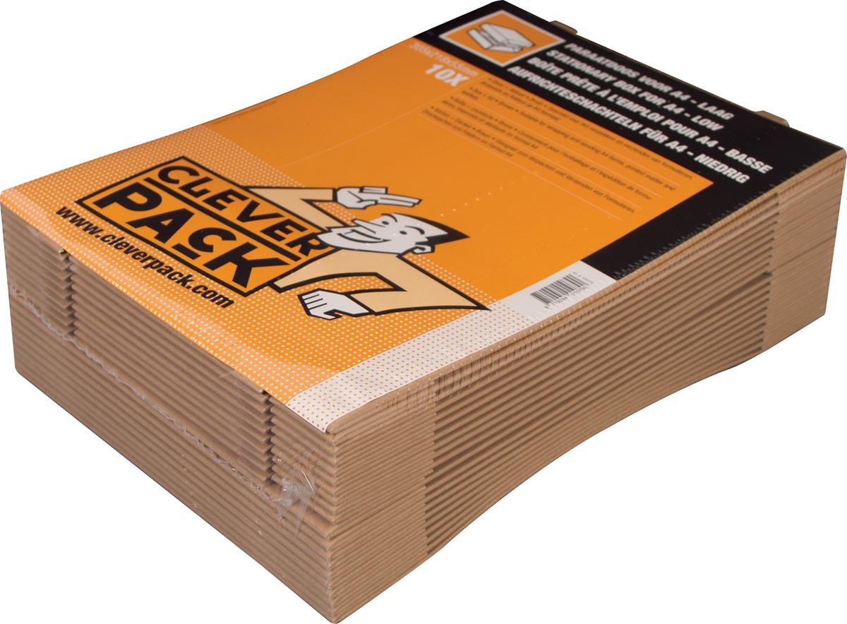 Cleverpack opbergdoos A4, ft 305 x 218 x 55 mm, pak van 10 stuks-2