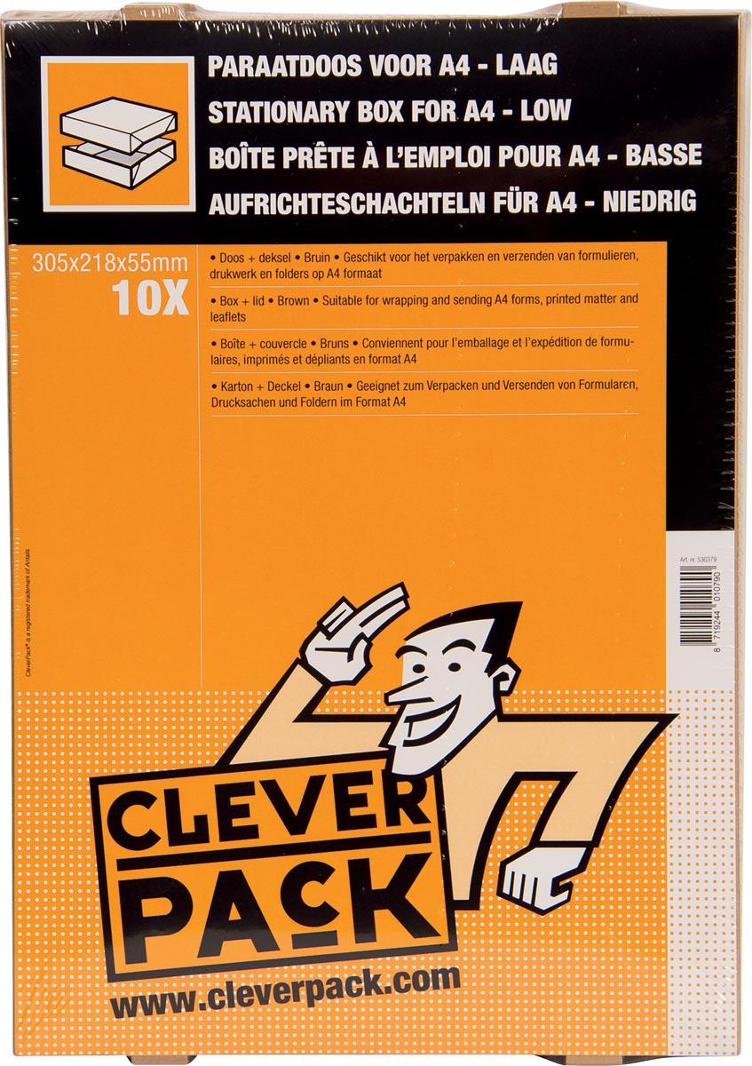 Cleverpack opbergdoos A4, ft 305 x 218 x 55 mm, pak van 10 stuks-3