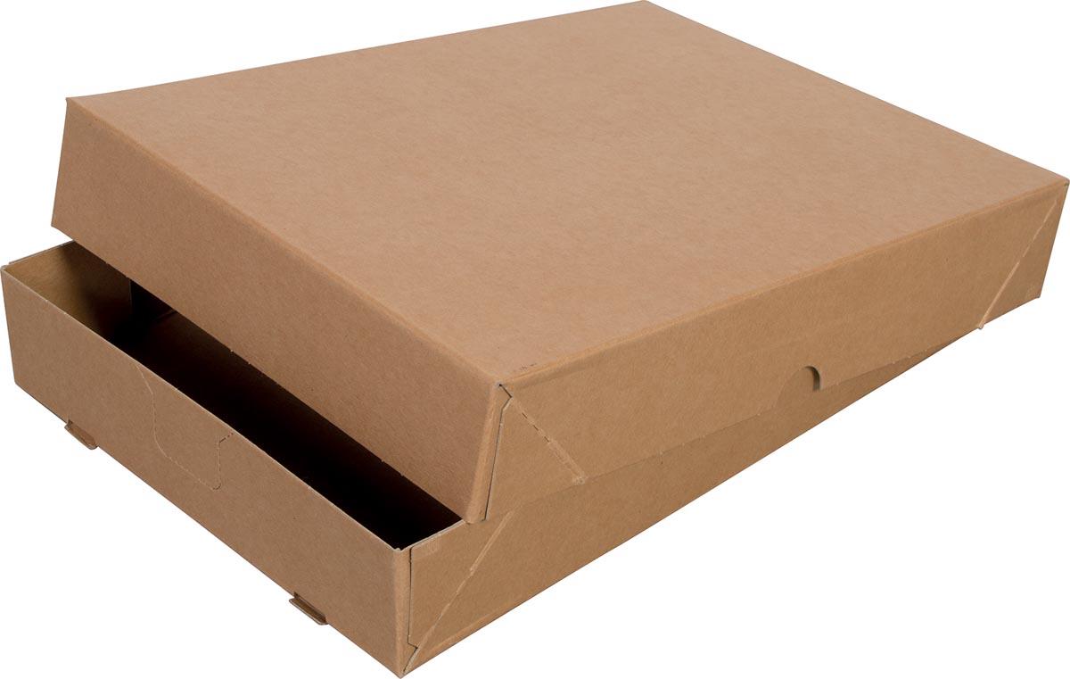 Cleverpack opbergdoos A4, ft 305 x 218 x 55 mm, pak van 10 stuks