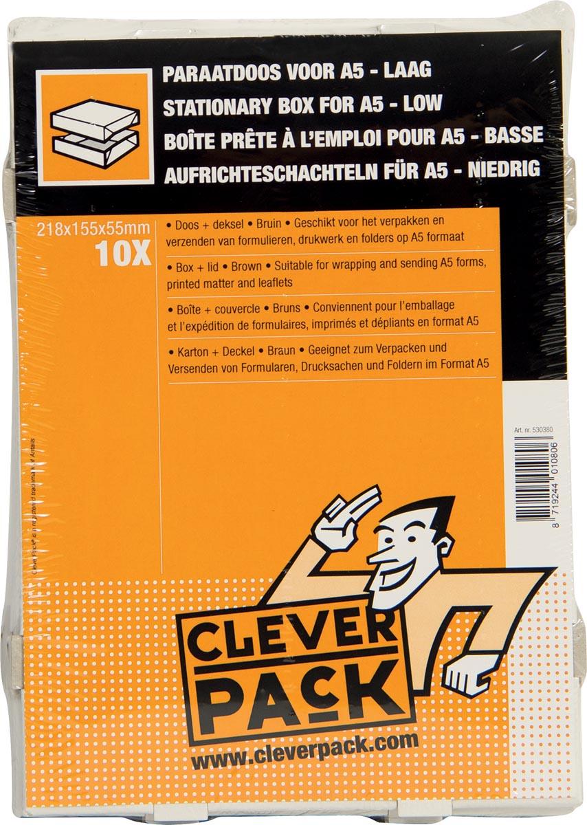 Cleverpack opbergdoos A5, ft 218 x 155 x 55 mm, pak van 10 stuks-3
