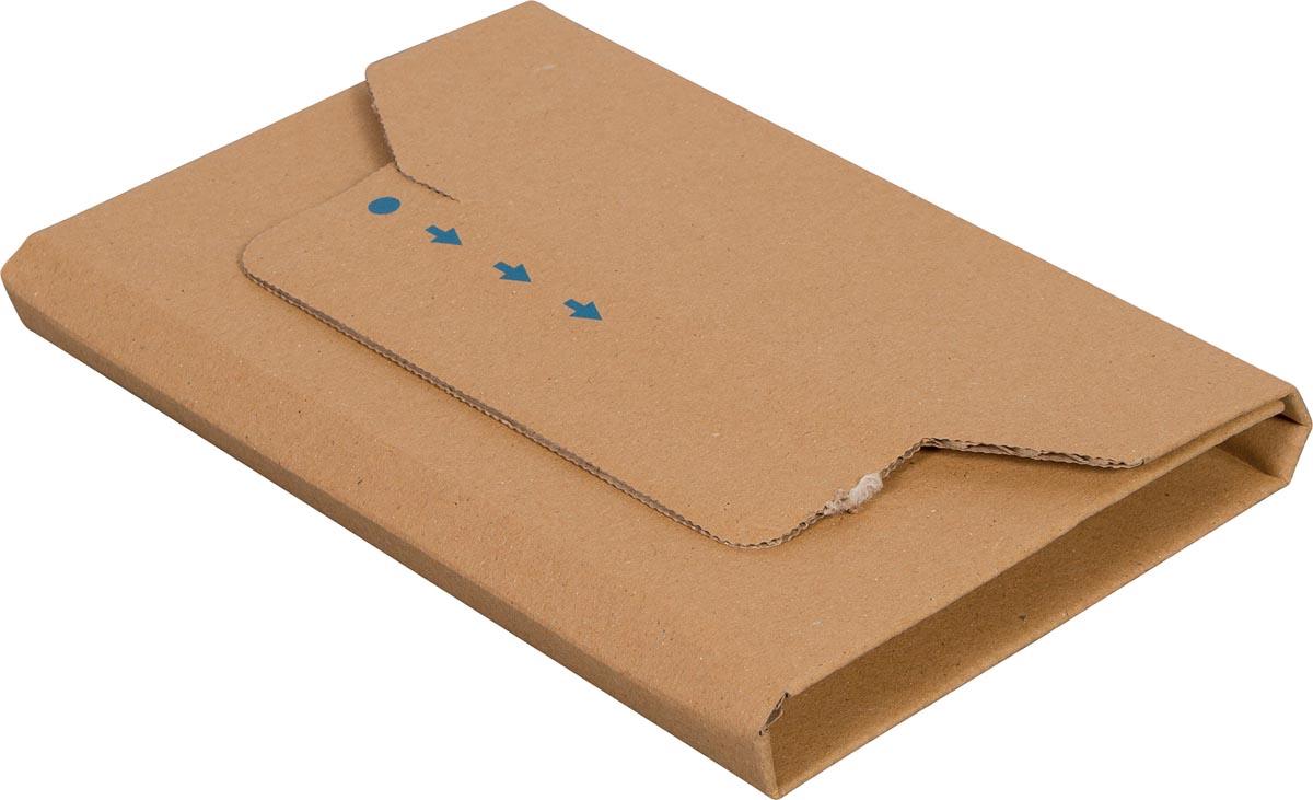 Cleverpack wikkelverpakking uit golfkarton, ft 126 x 147 x 10 / 40 mm, pak van 10 stuks-2