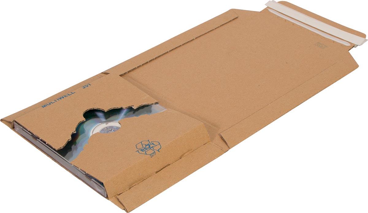 Cleverpack wikkelverpakking uit golfkarton, ft 126 x 147 x 10 / 40 mm, pak van 10 stuks