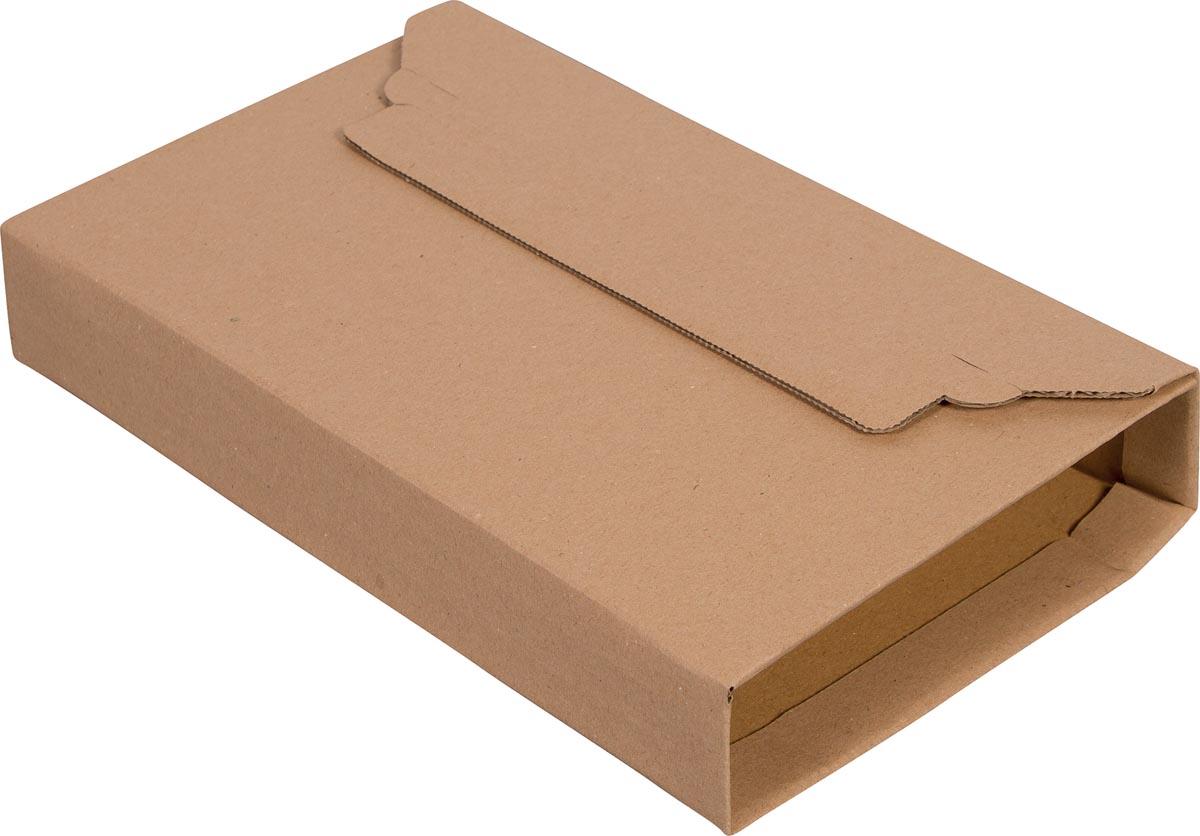 Cleverpack wikkelverpakking uit golfkarton, ft 155 x 217 x 10 / 50 mm, pak van 10 stuks-2